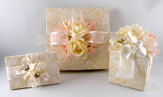 How To Wrap A Wedding Gift Box : Vintage-Wedding1