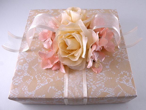 How To Wrap A Wedding Gift Box : ... Gift Boxes come in various sizes and can be used to wrap larger items
